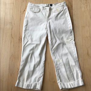 Gap white Capri pants